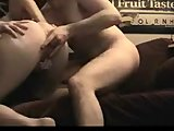 Pretty home made couple having sex on the sofa