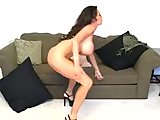 Big Boobs rides Dildo