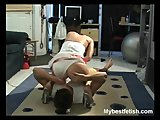 Nurse gets her ass lick and worship