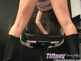 Tiffany Upskirt shots and masturbate with dildos