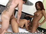 Latina SheMale Threesome FuckFest!