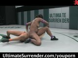 Sexy dark girls wrestling naked