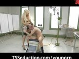 TS vixen Jessy plays with Bi-curious guy