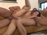 Hot Latina Takes Two Cocks in Every Hole