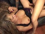 Big titted milf is glad her boyfriend came home - Pt. 2/4