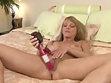 Blonde Milf Shayla Laveaux closeup masturbation