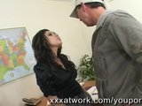 Stunning Secretary Fucks Pizza Guy