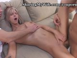 Wife Gets Stuffed By Two Cocks