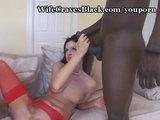 2 Black Cocks Pound Hot Wife