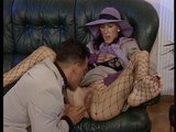Girl in purple loves to suck cock