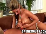 Daria Glower Fucked Hard cum on Tan tits