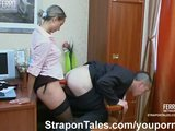 Strapon sex in the office