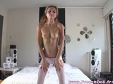 tight parisian girl coming home and stripping