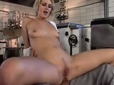 Babe in the Kitchen fucked in the Ass