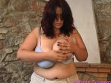 monster breast milf alone at home