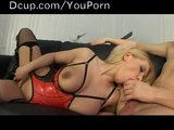 Hot Blond With Big Tits Takes A Load