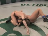 Two hot girls meet for the wrestling match