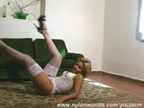 Katka Babe in white nylons