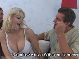 Huge Breasted Blondie&#039;s Pussy Stretched