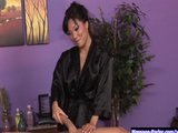 Sexy Japenese gives a sensual massage p.1