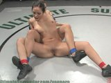 More sex wrestling and sweat from hot chicks!
