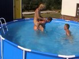 three boys playing in the pool - Pt. 1/4