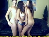 3 Hot Girlfriends Strip and Dance On Webcam