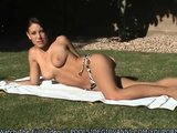 Amateur Giovanni Strips Off Her Bikini To Sunbathe