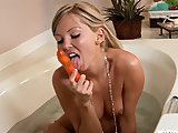 Aaliyah Love in sexy bathtub masturbation