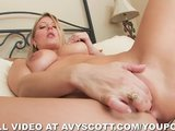 Avy Scott Comes Home and Fingers Herself