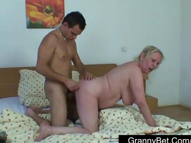 Big tit granny fuck