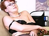 Horny Busty Redhead Milf Solo Dildo Orgasm