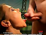 Beautiful Magdalena sucking large dicks