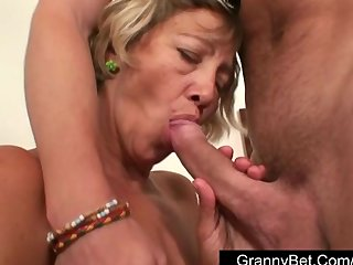 Mature shy cleaning woman fucked by y...