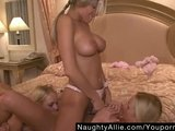 THREE SEXY BABES GET IT ON – LESBO FFF THREESOME