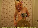 Self Shot Amateur Videos Herself in the Mirror