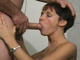 Sexy girl makes older man happy