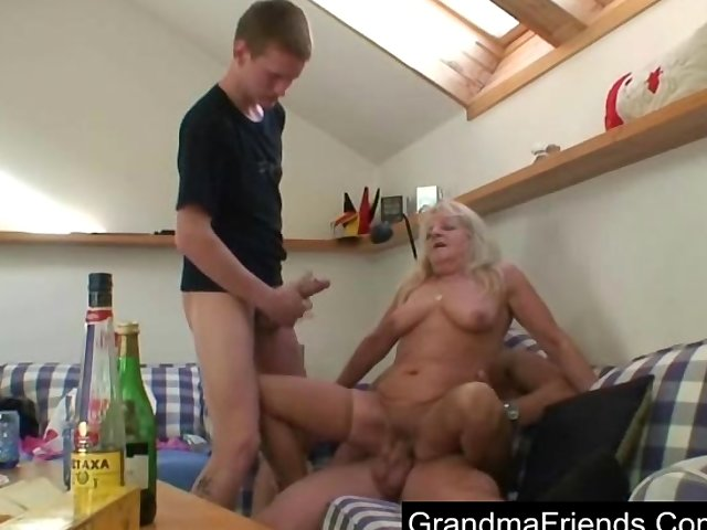 Porno Video of Granny Partying With Friends Of Her Daughter