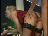 Mature stripper gets fucked from behind