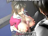 Hentai doggy sex and big tits fuck in 3D
