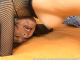 Sara Seori In Fishnet Top Fucked And Creampied
