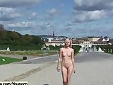 Lucie - Amazing Sweet Babe Naked In Public Streets