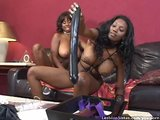 Nasty Black Lesbians Fuck With Huge Dildos