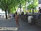 Nathy - Hot Public Nudity With Sweet German Chick