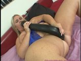 chubby girl takes a monster dildo