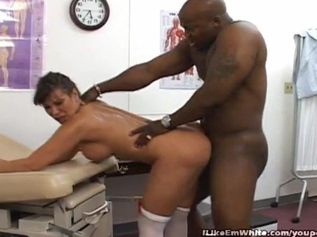 Asian nurse fucked by white