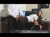 Big tits secretary's ass