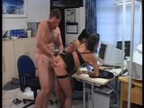 Office girls make boss shut up by fucking him