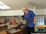 Huge titted grandma pleases a stranger