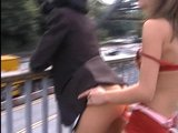 Fucked on a bridge with a strapon part 2